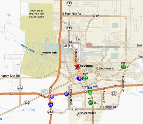 Fe Warren Afb Area Map